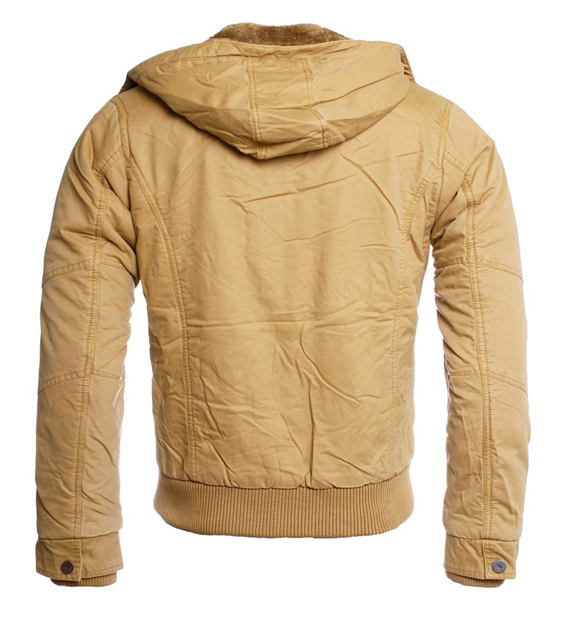 young rich herren winter jacke parka jk 415 camel ebay. Black Bedroom Furniture Sets. Home Design Ideas