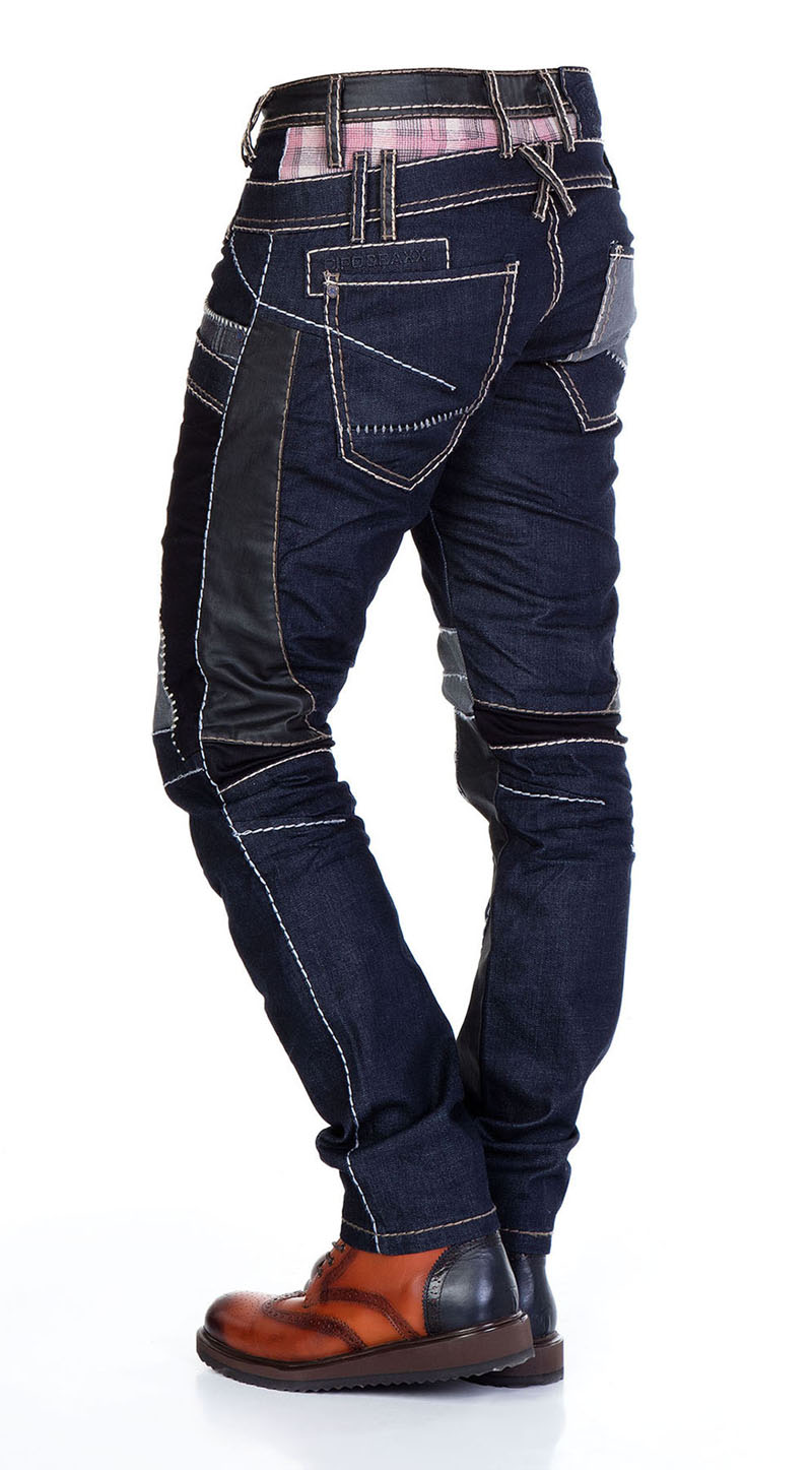 cipo baxx pantalon jeans pour hommes coupe droite vintage double taille haute ebay. Black Bedroom Furniture Sets. Home Design Ideas